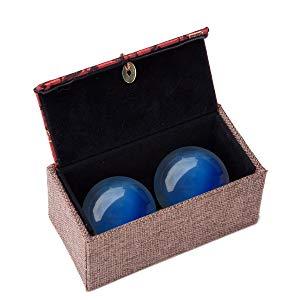 product: Tiger Eye Crystal Gemstone Quartz Chinese Health Stress Exercise Baoding Balls