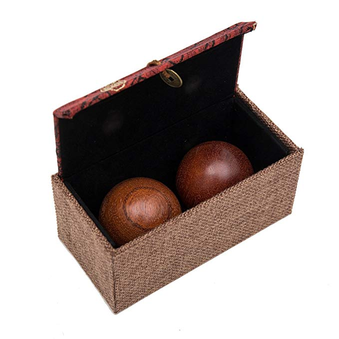product: Natural Texture Rosewood Chinese Health Baoding Balls