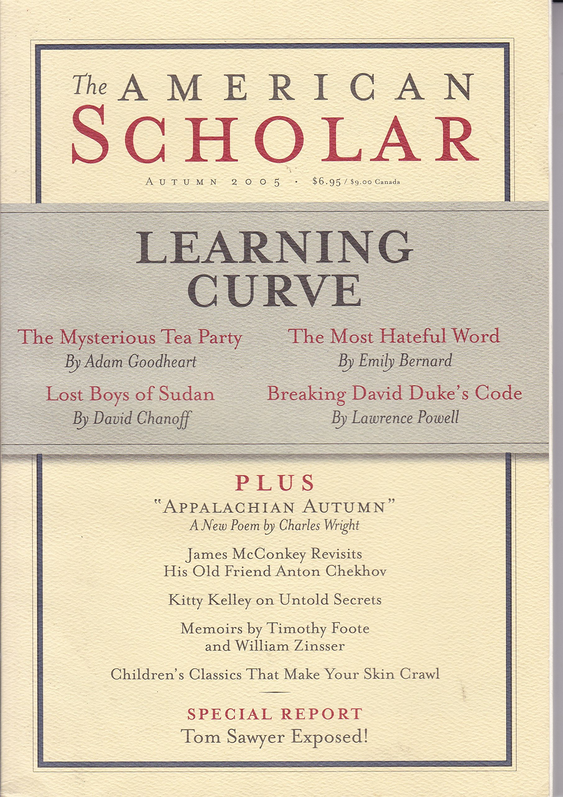 American Scholar Volume 74 Issue 4 Autumn 2005