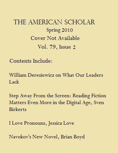 American Scholar Volume 79 Issue 2 Spring 2010