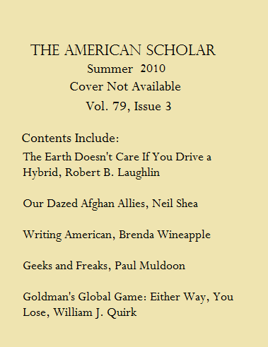 American Scholar Volume 79 Issue 3 Summer 2010