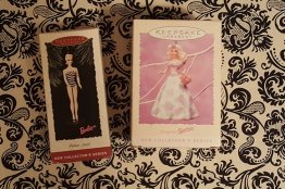 Barbie Girl Christmas Ornaments - Two (2) Collectibles