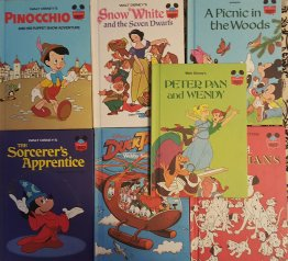 Walt Disney Children's Library of Classics - Set of Seven (7) Hardcover Books