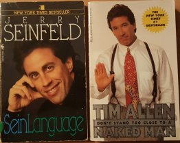 Two (2) Iconic Comedians Tim Allen and Jerry Seinfeld - Two Paperback Books Comedy Humor TV Shows