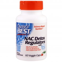 Doctor's Best NAC Detox Regulators with Seleno Excell, Non-GMO, Gluten Free, 60 Veggie Caps