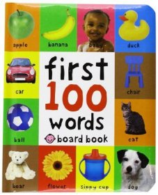 First 100 Words by Roger Priddy - Children's Illustrated Board Book