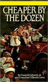 Cheaper by the Dozen by Frank Gilbreth and Ernestine Gilbreth Carey - Paperback USED