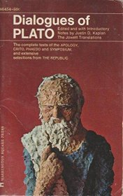 Dialogues of Plato : The Jowett Translations edited by Justin D. Kaplan - Paperback USED