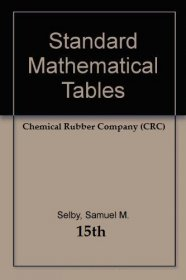 CRC Standard Mathematical Tables - Hardcover USED 15th Edition Reference
