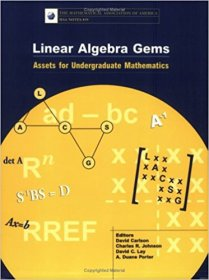 Linear Algebra Gems : Assets for Undergraduate Mathematics by Charles R. Johnson and David Carlson