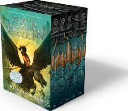Percy Jackson and the Olympians Boxed Set by Rick Riordan - 5 Paperback Books, New Covers, and Poster