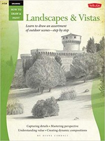 How to Draw and Paint Landscapes & Vistas - Large Format Softcover Art Book