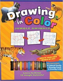 Drawing in Color : Jungle Animals - A Complete Activity Kit