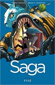 Saga Volume 5 by Brian K. Vaughan & Fiona Staples - Paperback Graphic Novel