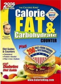 Calorie, Fat, and Carbohydrate Counter by The Calorie King - Pocket Sized Paperback