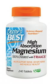 Doctor's Best Magnesium Glycinate Lysinate, 100% Chelated, Non-GMO, Vegan, Gluten Free, 200 mg, 240 Tablets