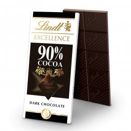 Lindt Excellence Bar, 90% Cocoa Supreme Dark Chocolate, Gluten Free, Great for Holiday Gifting, 3.5 Ounce