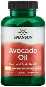 Swanson Avocado Oil 1 Gram 60 Softgels