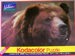 Kodacolor Nature Series Grizzly Bear 1000 Piece Puzzle - from Rose Art