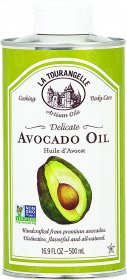La Tourangelle Avocado Oil 16.9 Fl Oz, All-Natural, Artisanal, Great for Salads, Fruit, Fish or Vegetables, Buttery Flavor