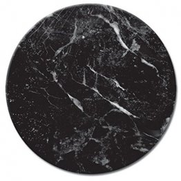 Lazy Susan Serving Plate - Glass with Black Marble Design by CounterArt