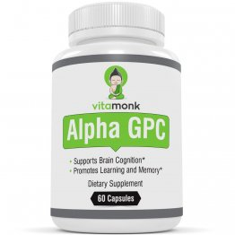 Alpha GPC Capsules by VitaMonk™ - Bioavailable Choline Supplement to Support Brain Cognition - 60 Alpha-GPC 325mg Capsules