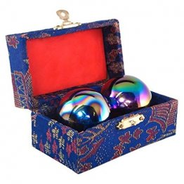 "Rainbow 1.5"" Chinese Relaxation Baoding Health Balls"