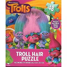 Dreamworks Trolls 48-piece Puzzle with Real Troll Hair!