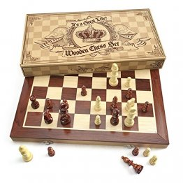 Wooden Chess Board and Pieces from It's a Great Life Games