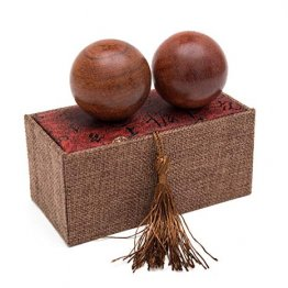 Natural Texture Rosewood Chinese Health Baoding Balls