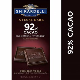 Ghirardelli Intense Dark Chocolate Bar - 92% Cacao – Dark chocolate with fruit-forward and earthy notes