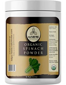 Naturevibe Botanicals Organic Spinach Powder, 1lbs | Non-GMO and Gluten Free | Rich in Vitamins | Boost Immune System.