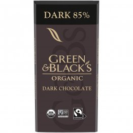 Green & Black's Organic 85% Cacao Dark Chocolate Bar, 3.17 Oz