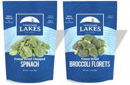 Thousand Lakes Freeze Dried Fruits and Vegetables - Broccoli Florets & Spinach