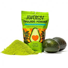 AvoLov Avocado Smoothie Powder and Keto Friendly Dietary Supplement. Made With Perfectly Ripened Hass Avocados. Great for Avocado Lovers, Use for Smoothies, Drinks, Guacamole and More. GMO-Free