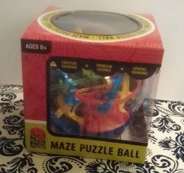 Maze Puzzle Ball from Brain Knots Toys - 100 Challenging Obstacles