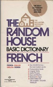 Random House Basic Dictionary French - Mass Market Paperback USED