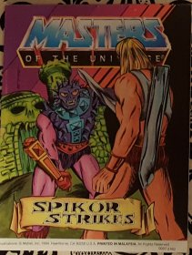 Masters of the Universe Spikor Strikes - Mini Comic VINTAGE 1984