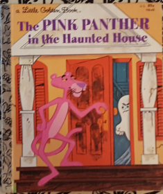 The Pink Panther in the Haunted House - A Little Golden Book by Kennon Graham - Hardcover VINTAGE 1975