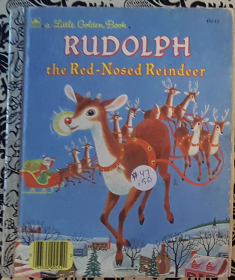 Rudolph the Red-Nosed Reindeer - A Little Golden Book by Barbara Shook Hazen - Hardcover VINTAGE 1990