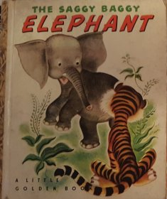 The Saggy Baggy Elephant - Little Golden Book VINTAGE 1947