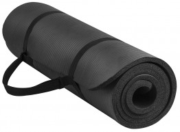 GoYoga All-Purpose 1/2-Inch Extra Thick High Density Exercise Yoga Mat with Carrying Strap