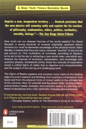 The Fabric of Reality : The Science of Parallel Universes--and Its Implications by David Deutsch - Paperback