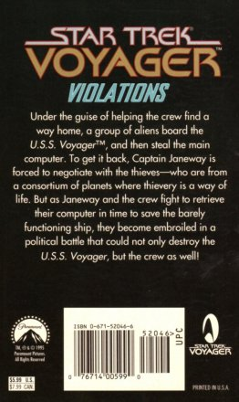 Violations (Star Trek Voyager, Book 4) by Susan Wright - Paperback