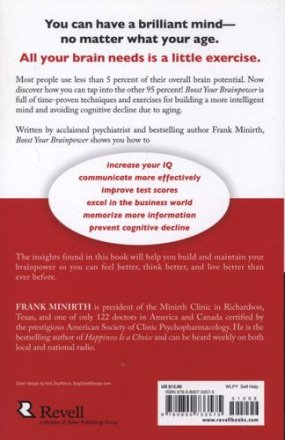 Boost Your Brainpower by Frank Minirth, M.D. - Paperback